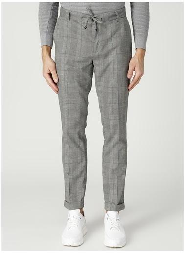Fabrika Fabrika Kemas 17,5 Siyah Çizgi Desenli Erkek Chino Pantolon Siyah